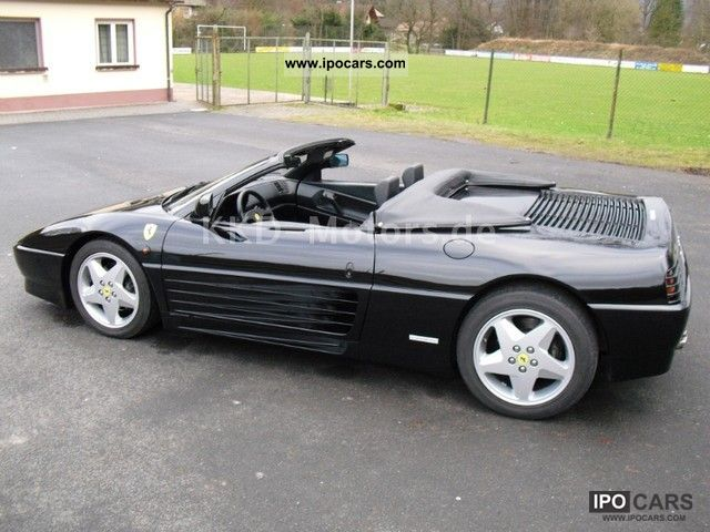 1995 Ferrari 348 Spider Convertible Black Black Tubi Style Spa Car Photo And Specs