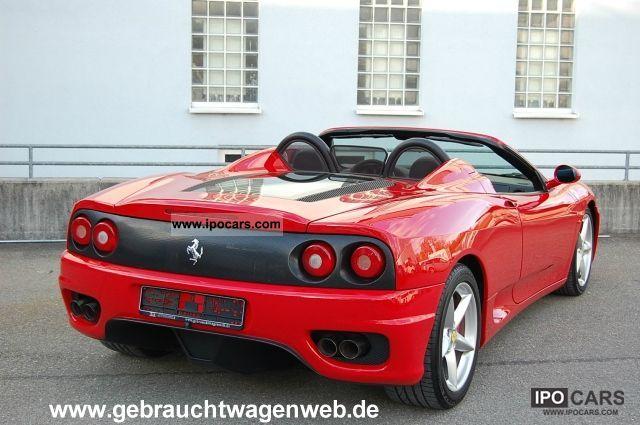 2004 Ferrari 360 F1 Spider German Car Car Photo And Specs