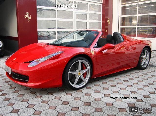 2011 Ferrari 458 Spider 458 Spider Hire Vehicle Car Photo And Specs