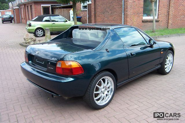 1997 Honda Crx Del Sol Esi Black Leather Hand 2e Car