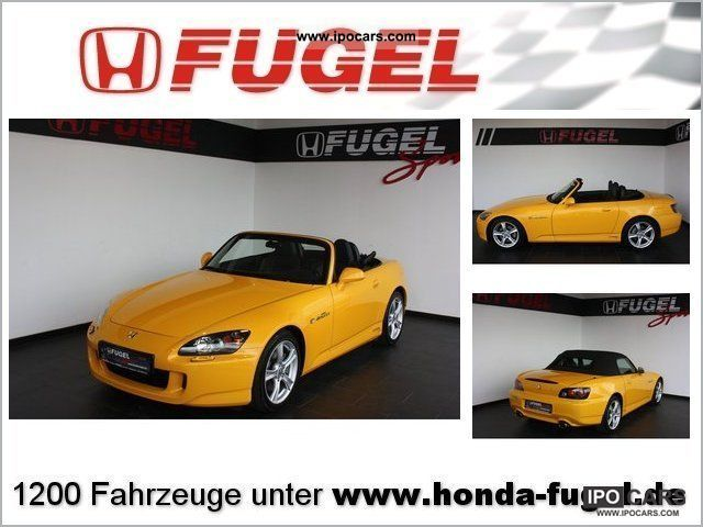 2008 Honda  S2000 2.0 Navi Cabrio / roadster Used vehicle photo