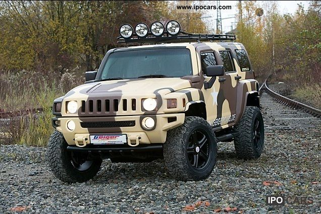 2008 Hummer Geiger H3 3 7 Turbo Military Camouflage Car