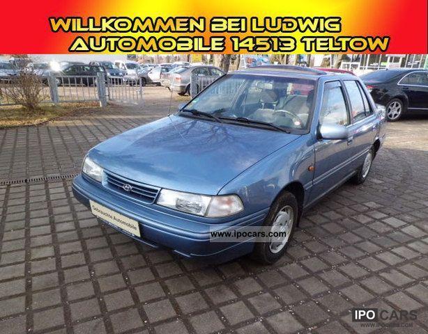 1993 Hyundai  Pony 1.5i GLS Servo/90Tkm/Radio/Schiebedach Small Car Used vehicle photo