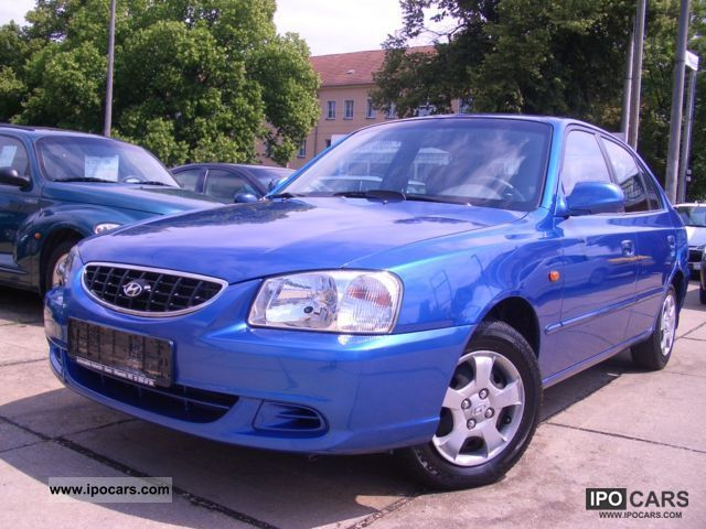 2002 Hyundai  Accent 1.5i 80tkm Cup! Air! EURO3! Limousine Used vehicle photo