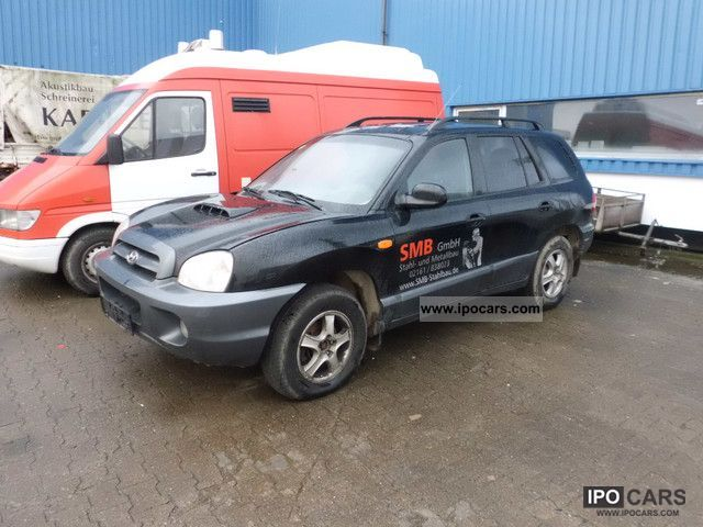 2002 Hyundai  Santa Fe 2.0 CRDi 2WD GLS * Air conditioning * Black Off-road Vehicle/Pickup Truck Used vehicle photo