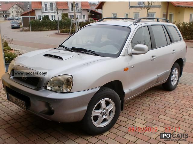 2003 hyundai santa fe 2 0 crdi 4wd gls car photo and specs. Black Bedroom Furniture Sets. Home Design Ideas