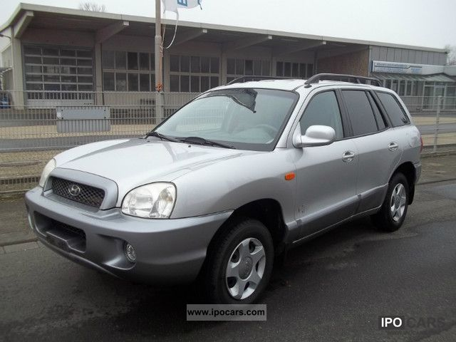 2003 hyundai santa fe 2 4 2wd gls car photo and specs. Black Bedroom Furniture Sets. Home Design Ideas