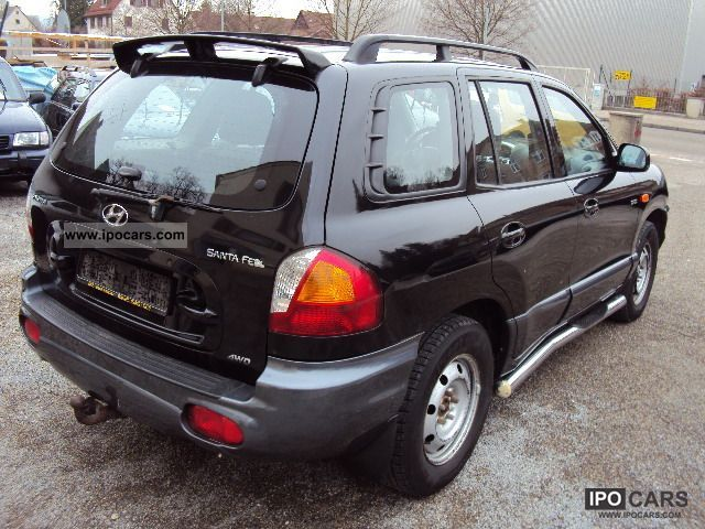 2003 hyundai santa fe 2 0 crdi 4wd car photo and specs. Black Bedroom Furniture Sets. Home Design Ideas