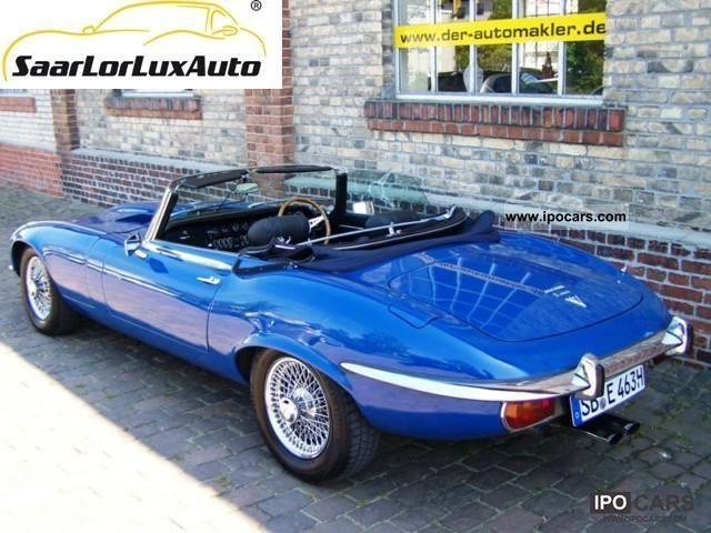 1975 jaguar e type v12 roadster car photo and specs. Black Bedroom Furniture Sets. Home Design Ideas