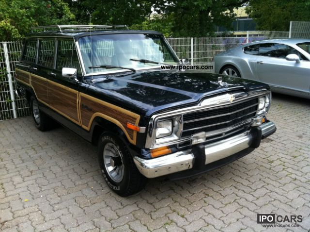 1990 jeep 5 9 l grand wagoneer bj 90 4x4 car photo and specs. Black Bedroom Furniture Sets. Home Design Ideas