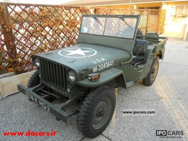 Jeep  Willys TARTRATE TRICE AGRICOLA 1952 Vintage, Classic and Old Cars photo