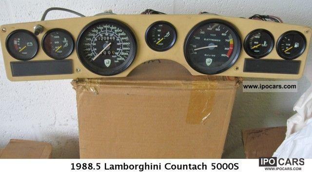 1988 lamborghini countach car photo and specs. Black Bedroom Furniture Sets. Home Design Ideas