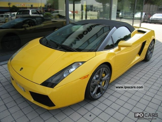 2007 Lamborghini Gallardo 5 0 V10 Spyder E Gear Car Photo And Specs