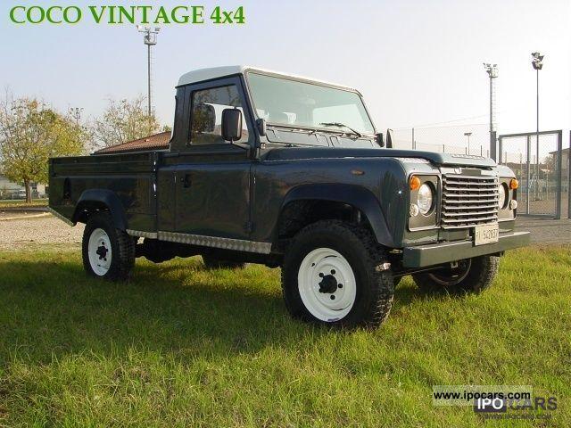 1986 land rover defender 110 pick up car photo and specs. Black Bedroom Furniture Sets. Home Design Ideas