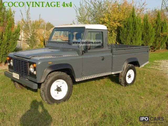 1986 land rover defender 110 pick up car photo and specs. Black Bedroom Furniture Sets. Home Design Ideas