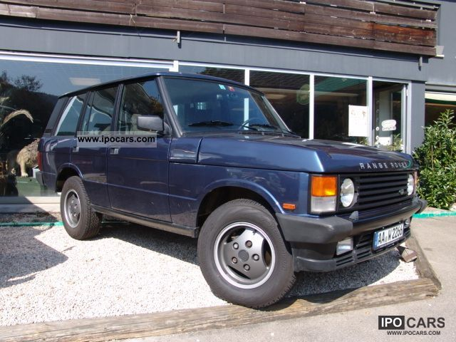 1990 land rover range rover car photo and specs. Black Bedroom Furniture Sets. Home Design Ideas