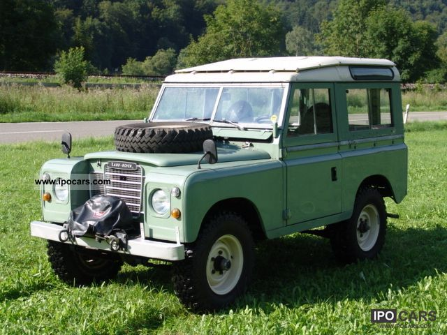 1976 land rover 88 series iii station wagon car photo and specs. Black Bedroom Furniture Sets. Home Design Ideas