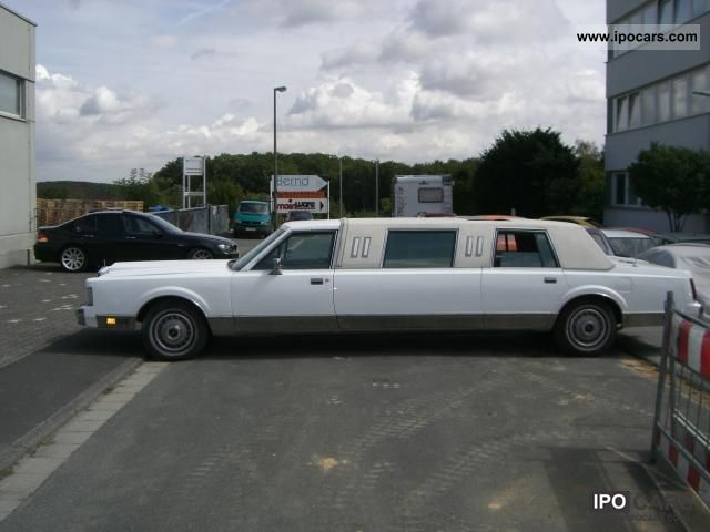 1988 Lincoln Town Car Stretch Limo Car Photo And Specs
