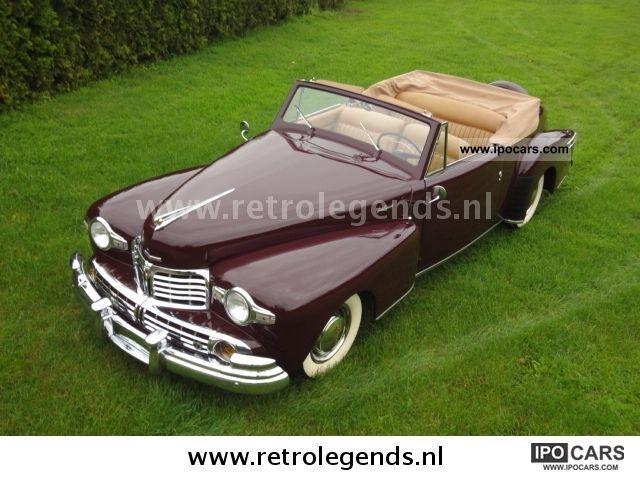 Lincoln  V12 Convertible 1948 Vintage, Classic and Old Cars photo