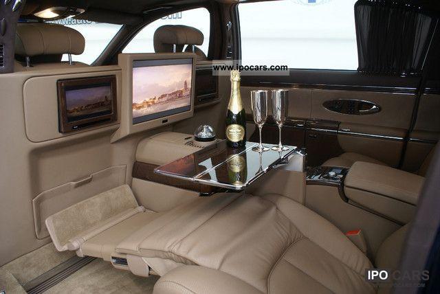2010 maybach 62 2011 partition cinema screen car for Interieur voiture de luxe