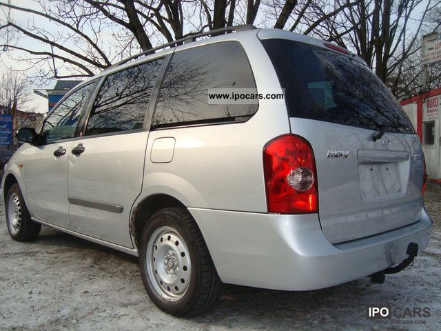 2003 mazda mpv 2 0 td 7 sitzer 1hand air conditioning heater car photo and specs. Black Bedroom Furniture Sets. Home Design Ideas