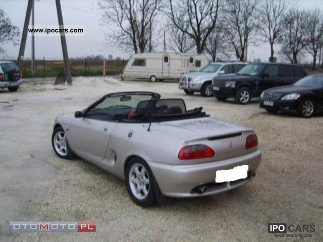 1997 mg mgf 1 8 convertible 120km skora alufelg car photo and specs. Black Bedroom Furniture Sets. Home Design Ideas