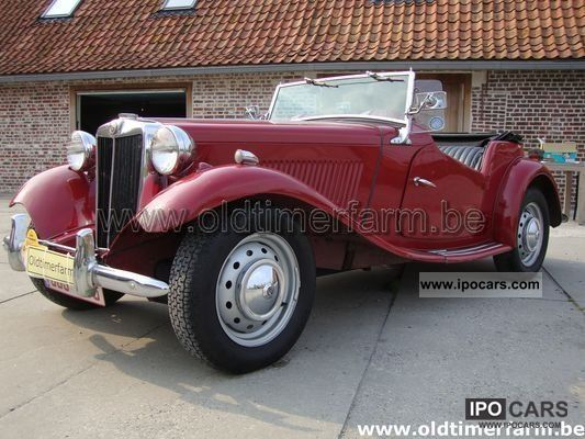 MG  TD bordeaux 1951 1951 Vintage, Classic and Old Cars photo