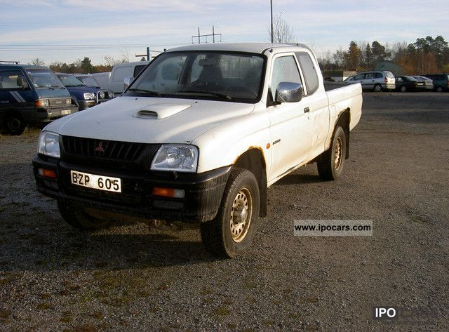 1999 mitsubishi l200 gl 4x4 pick up car photo and specs. Black Bedroom Furniture Sets. Home Design Ideas