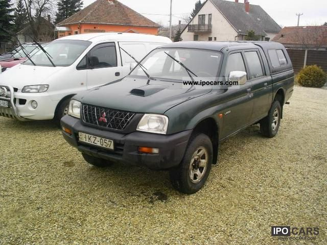 2002 mitsubishi l200 pick up 4x4 car photo and specs. Black Bedroom Furniture Sets. Home Design Ideas