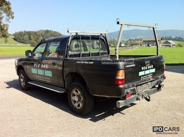2001 mitsubishi l200 pick up 4x4 glx car photo and specs. Black Bedroom Furniture Sets. Home Design Ideas