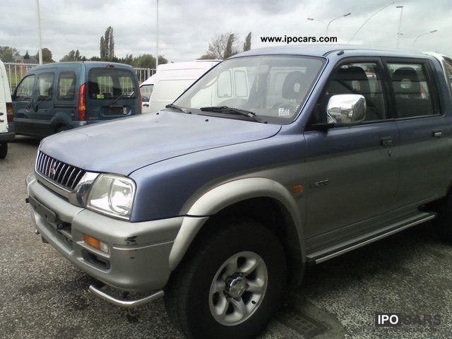 2001 mitsubishi l200 pick up 4x4 magnum essence car photo and specs. Black Bedroom Furniture Sets. Home Design Ideas