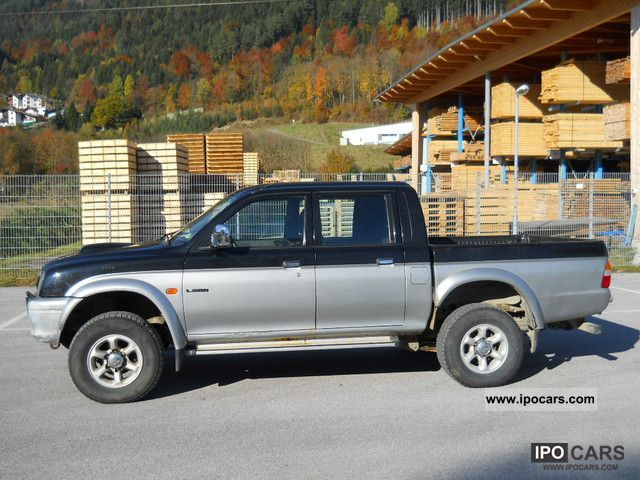 2000 mitsubishi l200 pick up 4x4 magnum car photo and specs. Black Bedroom Furniture Sets. Home Design Ideas