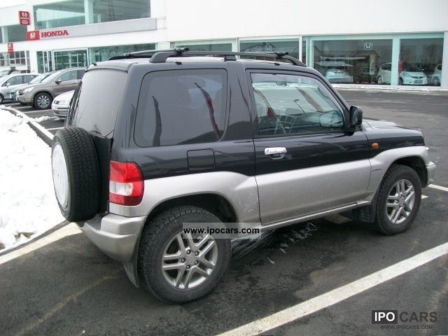 2004 mitsubishi pajero pinin 1 8 mpi 16v 3 porte car photo and specs. Black Bedroom Furniture Sets. Home Design Ideas