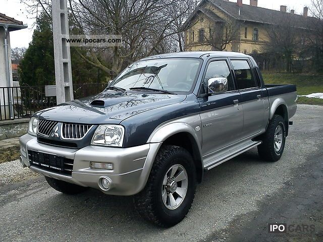 2005 mitsubishi l200 pick up 4x4 intense car photo and specs. Black Bedroom Furniture Sets. Home Design Ideas