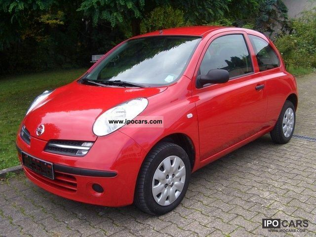 2006 nissan micra 1 2 visia car photo and specs. Black Bedroom Furniture Sets. Home Design Ideas