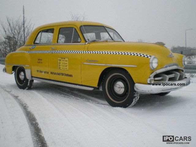 1952 Plymouth Cambridge Yellow Cab Classic Car Photo
