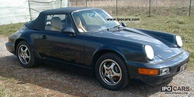 1992 porsche 911 964 carrera 2 cabriolet car photo and specs. Black Bedroom Furniture Sets. Home Design Ideas