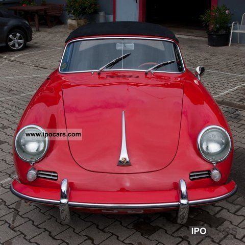 Porsche  356 B Cabrio 1.6 Red / Black. 1963 Vintage, Classic and Old Cars photo