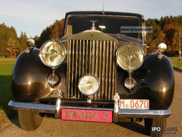 1948 Rolls Royce  SILVER WRAITH \Maharajah of Nabha \ Limousine Classic Vehicle photo