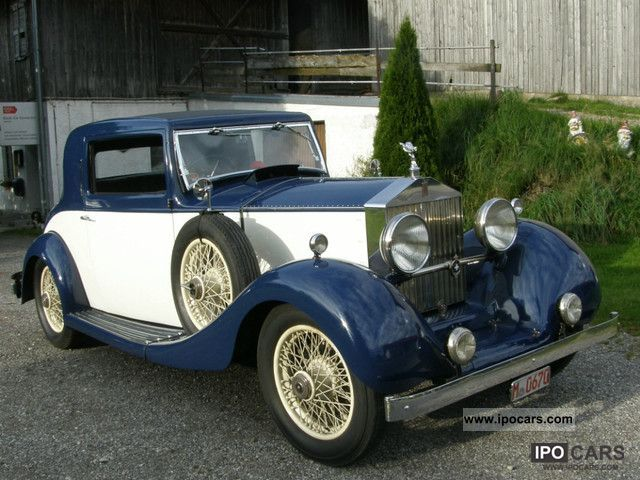Rolls Royce  20/25 HP - Carlton Sportsman Coupe-2DOOR 2Lights 1930 Vintage, Classic and Old Cars photo