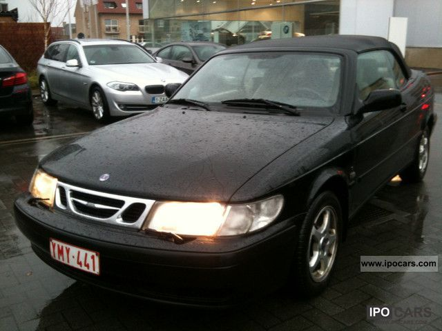 2001 Saab  9-3 2.0i S Convertible t-leather-climate Cabrio / roadster Used vehicle photo