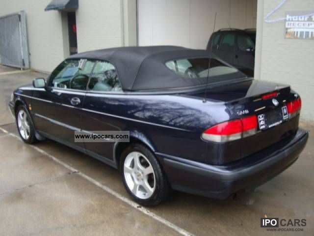 1998 saab 9 3 convertible 2 0 turbo se car photo and specs. Black Bedroom Furniture Sets. Home Design Ideas