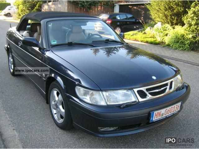 2001 saab 9 3 turbo s convertible car photo and specs. Black Bedroom Furniture Sets. Home Design Ideas