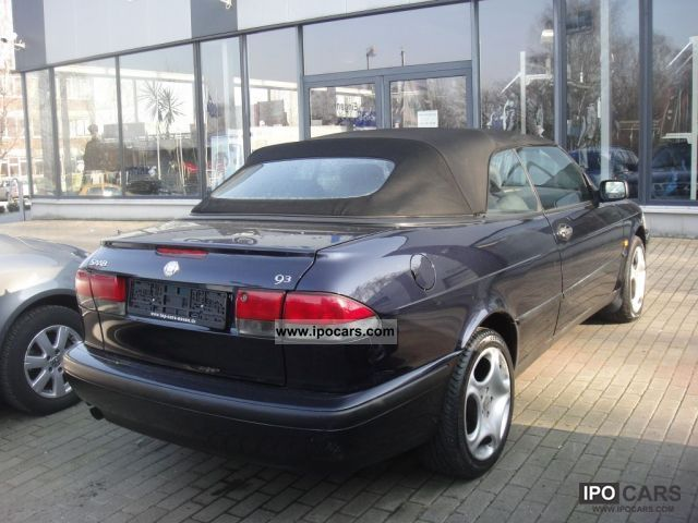 1999 saab 9 3 convertible 2 0 engine 15tkm car photo and specs. Black Bedroom Furniture Sets. Home Design Ideas