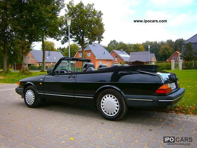 1991 saab 900 convertible s car photo and specs. Black Bedroom Furniture Sets. Home Design Ideas