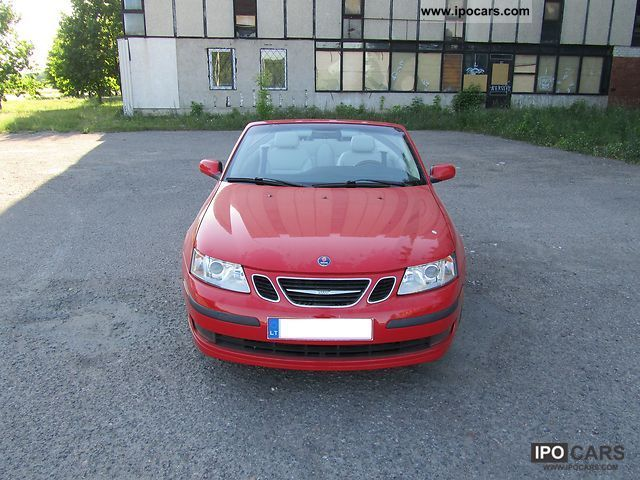 2004 saab 9 3 2 0 t cabriolet automatic car photo and specs. Black Bedroom Furniture Sets. Home Design Ideas
