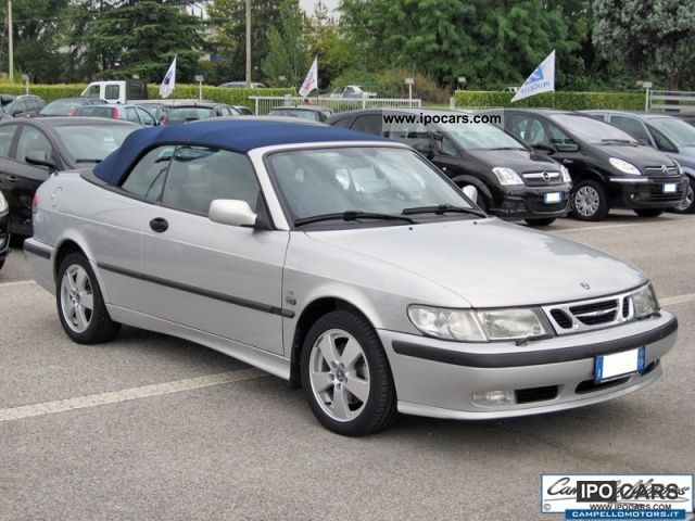 2003 saab 9 3 2 0 16v se convertible car photo and specs. Black Bedroom Furniture Sets. Home Design Ideas