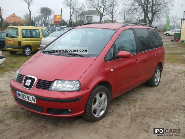 2002 Seat Anglik Alhambra 1 9 Tdi Car Photo And Specs