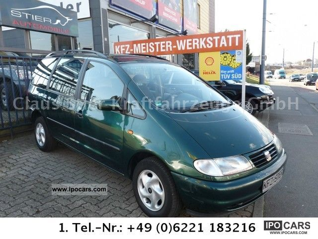 1999 Seat  Alhambra 1.8 20V Turbo Air Car. Finest green. Van / Minibus Used vehicle photo