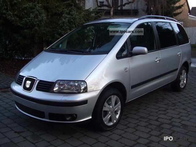 2007 Seat  Alhambra 2.0 TDI DPF Vigo Navy, aluminum, SZ., 1.Hd. Van / Minibus Used vehicle photo